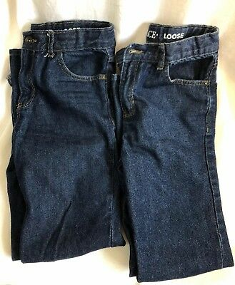 The Childrens Place Boys Lot of 2 Loose Slim Blue Jeans Size 14S