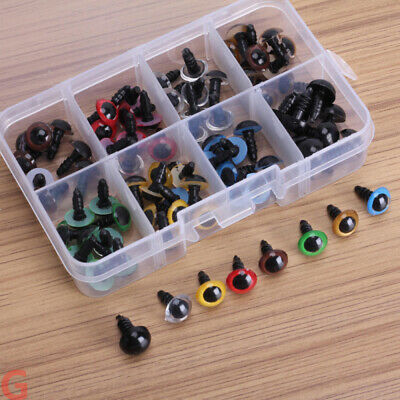 80pcs 8 Mixed Color Plastic Safety Eyes Washers for Animal Toy Teddy Bea XNQ