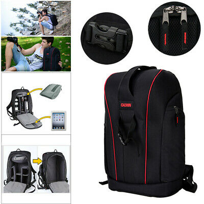 2 in 1 Caden DSLR Camera Backpack Photo Bag Case Waterproof For Nikon Canon Sony