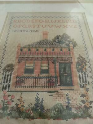 Vintage Town House Anchor Embroidery/Tapestry Kit  - Counted Cross Stitch As New