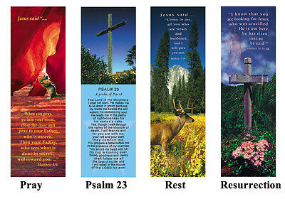 EASTER SPECIAL 1 lot 100 Inspirational Bookmark tracts Bible verse