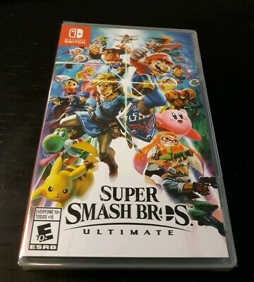 Super Smash Bros. Ultimate Nintendo Switch Brand New Sealed First Class Shipping
