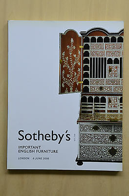 Sotheby's Important English Furniture London 6 June 2006 Auction Catalogue VG