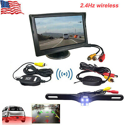 """5"""" Wireless LCD Monitor +IR Rear View Backup Camera System for Bus Truck Trailer"""
