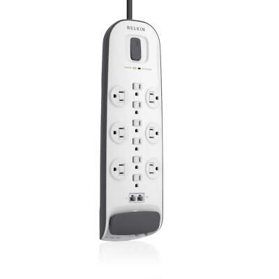 Belkin 12-Outlet Surge Protector with 8 ft. Power Cord and Ethernet, Cable/Satel