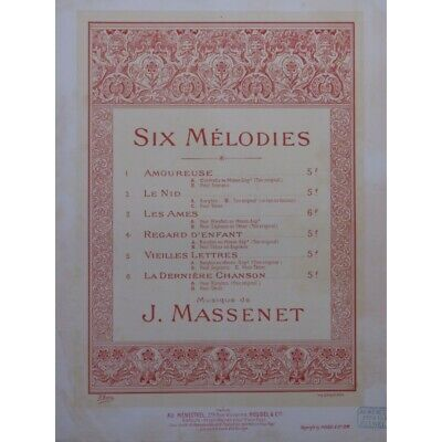 MASSENET Jules Le nid Chant Piano 1898 partition sheet music score