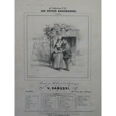 GABUSI V. Les petites Bohémiennes Chant Piano ca1840 partition sheet music score