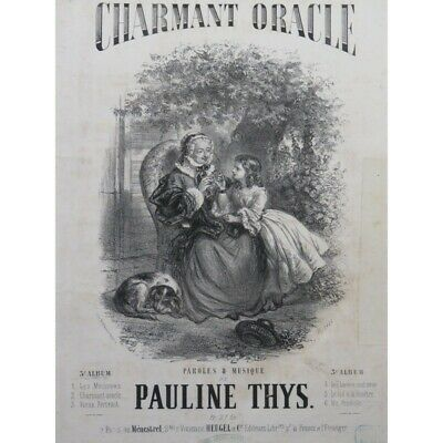 THYS Pauline Charmant Oracle Chant Piano ca1850 partition sheet music score