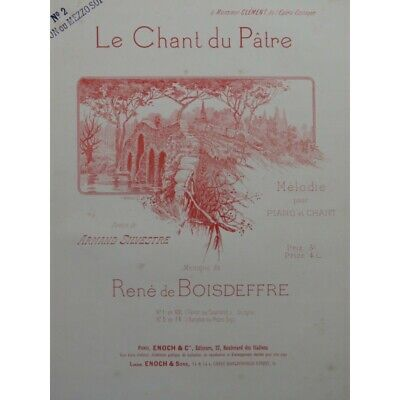 DE BOISDEFFRE René Le Chant du Pâtre Chant Piano ca1895 partition sheet music sc