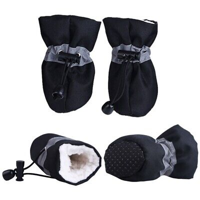 US Pet Dog Winter Warm Boots Anti-Slip Rain Shoes Puppy Protective Sock Booties
