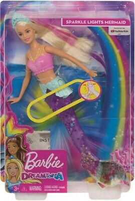 NEW Barbie Sparkle Lights Mermaid from Mr Toys