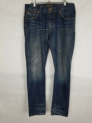 Scotch And Soda Mens Mercer Jeans Button Fly Size W32 L34