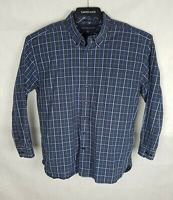 Tommy Hilfiger Mens 80's 2 Ply Fabric Shirt Long Sleeve Plaid Size 2XL