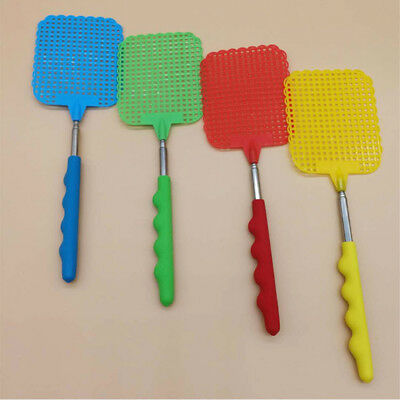 Pest Control Tools Extendable Flies Swatter Plastic Simple Pattern Fly Swat GN