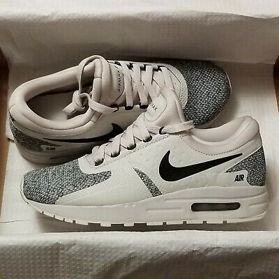 on sale 6059e 163c4 Nike Air Max Zero SE (GS) Light Bone Black Running Shoes Youth Size 7Y