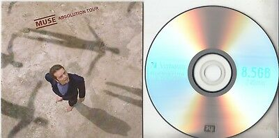 MUSE Absolution Tour 2005 UK promo DVD-R card sleeve