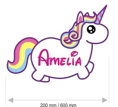 Unicorn Wall Stickers Baby Personalised Name GIRLS My Little Names