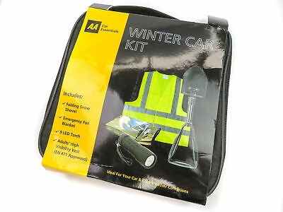 AA Winter Car Kit /w Snow Shovel / Foil Blanket / LED Torch / Hi Vis Vest & Case