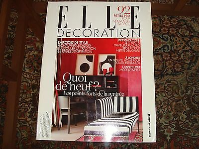 Elle Decoration No 184 French Edition September 2009 Interior Design Magazine
