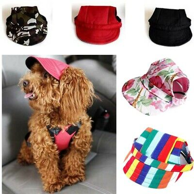 Summer Baseball Hat Canvas Outdoor Visor Sunbonnet Cap for Small Pet Dog Cat