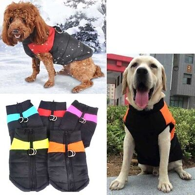 Pet Vest Jacket Warm Waterproof Large Small Dog Clothes Winter Padded Coat S-5XL