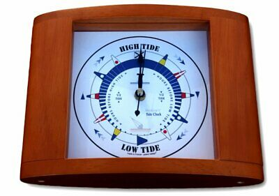Free standing Tide clock in wooden frame
