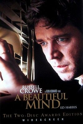 A Beautiful Mind (DVD 2002 2-Disc Awards Edition WS) Crowe Harris *Free Shipping