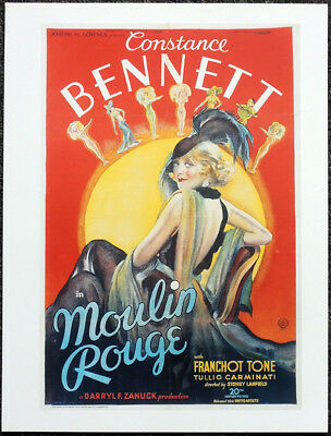 Vintage Moulin Rouge Poster Print Picture A3 A4