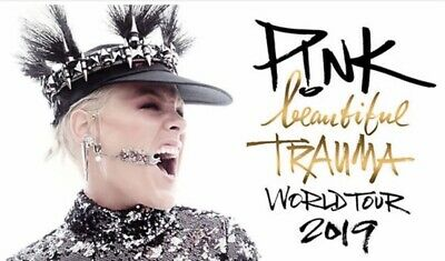2X GOLDEN CIRCLE PINK BEAUTIFUL TRAUMA CONCERT TICKETS CARDIFF 20th JUNE