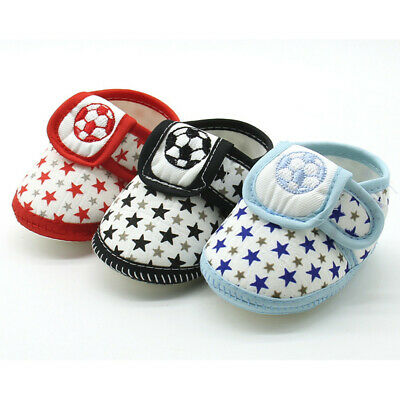 Newborn Infant Baby Stars  Print Girls Boys Soft Sole Casual Cotton Crib Shoes