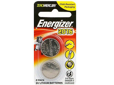 2Pack Genuine Energizer 2016 3V Lithium Batteries Brand New - Free Postage