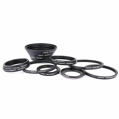 18pcs Step Up and Down Lens Filter Ring Adapter Set 37-82mm Canon Nikon