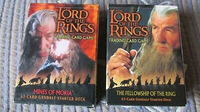 Decipher LORD OF RINGS Fellowship of the Ring & Mines of Moria Starter Deck`s
