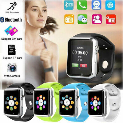 For Android Samsung iPhone Bluetooth Smart Wrist Watch A1 GSM Phone Man Women