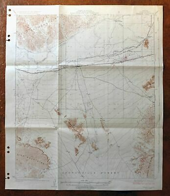 1929 Wellton Arizona Vintage USGS Topo Map east of Yuma Topographic