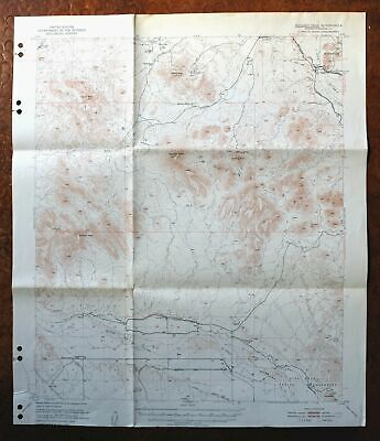 Woolsey Peak Arizona Vintage USGS Topographic Map 1951 Gila Bend Mountains