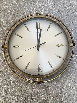 Metamec Wall Clock Vintage Retro Antique Brass