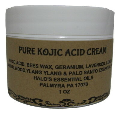 100% Pure Kojic Acid Skin Lightening Bleaching Skin Cream 1 oz Strong & Potent