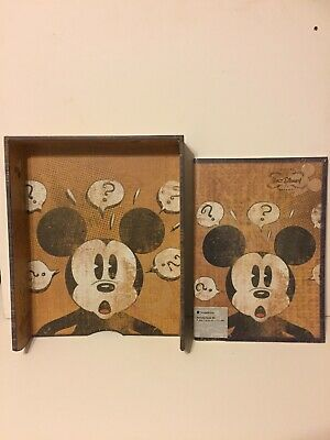 Mickey Mouse In Tray And A4 Pad