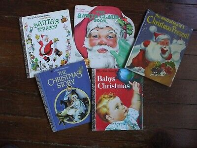 Vintage Children's Christmas Books Famous Artists 1st Ed. Winship Wilkin Disney
