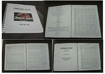 JOHN WILLIAMS - JURASSIC PARK - FULL ORCHESTRAL SCORE - 350 pages