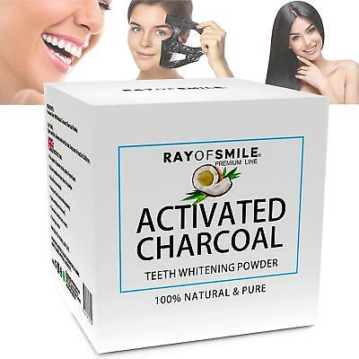 Activated Charcoal 100% Natural Teeth Whitening Powder by Ray of Smile 3 Month
