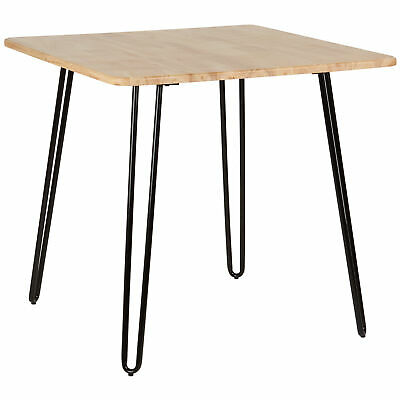 SALE - Hartleys Black Hairpin Leg Table With Solid Wood - DAMAGED PACKET #218