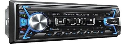 Power Acoustik PL51B AM/FM/USB/SD/Bluetooth Mechless Car Stereo Single DIN NEW!
