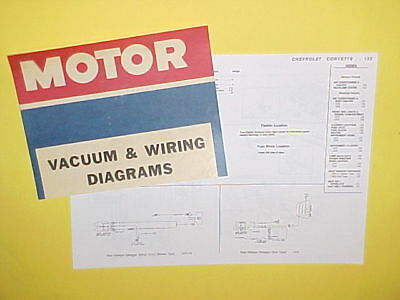 1975 1976 chevrolet corvette stingray convertible coupe vacuum+wiring  diagrams