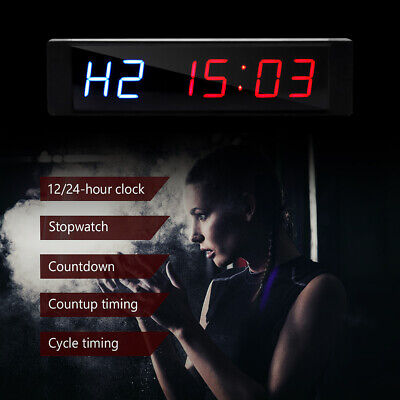 Programmable Crossfit Interval Timer Wall Clock w/Remote For Tabata Fitness NEW