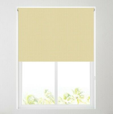 Buttermilk Cream Thermal Blackout Roller Blinds - FREE CUT TO SIZE SERVICE