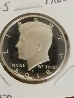 2018-S~Proof From Us Mint Set~  Clad~ Kennedy~ Half~ Dollar~ Coin