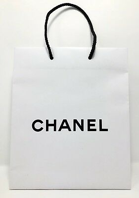 819ddbc7e337 AUTHENTIC CHANEL WHITE Paper Shopping Bag Gift Size:10x8x3 Brand NEW ...