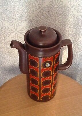 Vintage Retro Arthur Wood Pottery Co Coffee Pot And Lid